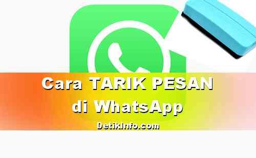 Cara Tarik Pesan terkirim di WhatsApp Terbaru