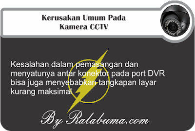 Kerusakan Umum Pada Kamera CCTV