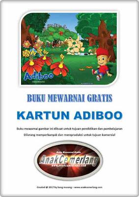 buku mewarnai pdf gratis kartun adiboo