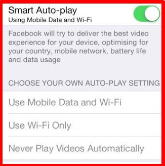 how to turn off autoplay videos on facebook mobile