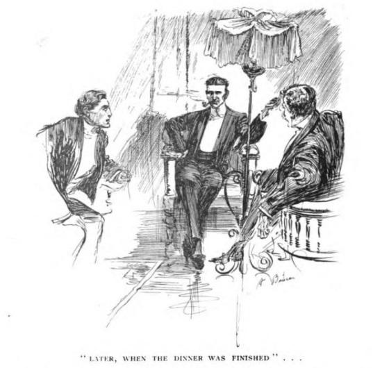 ILUSTRACIÓN DE UNA DE LAS HISTORIAS DE CARNACKI PUBLICADAS EN LA REVISTA THE IDLER (1910)
