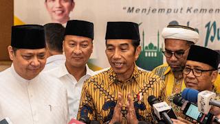 Golkar Ingin Jatah Ketua MPR, Jokowi: Wajar sebagai Pemenang Kedua