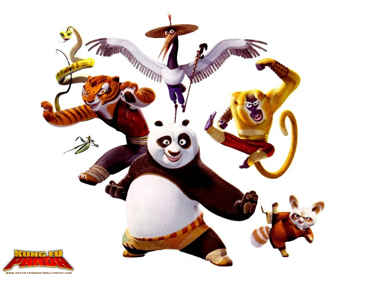 Kung Fu Panda Para Dibujar Colorear Imprimir Recortar Y