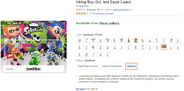 Inkling Boy, Girl, and Squid 3-pack on Amazon