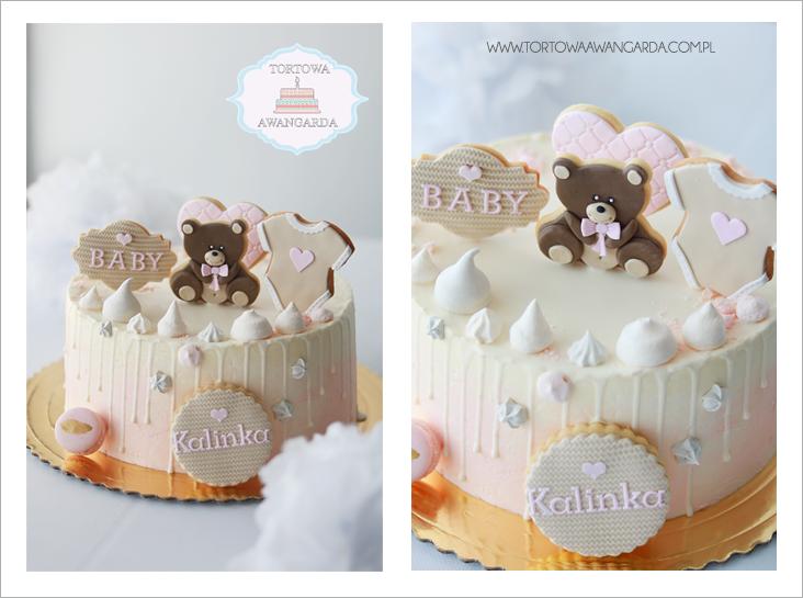 drip cake na baby shower wesele ślub Warszawa cukiernia dowóz