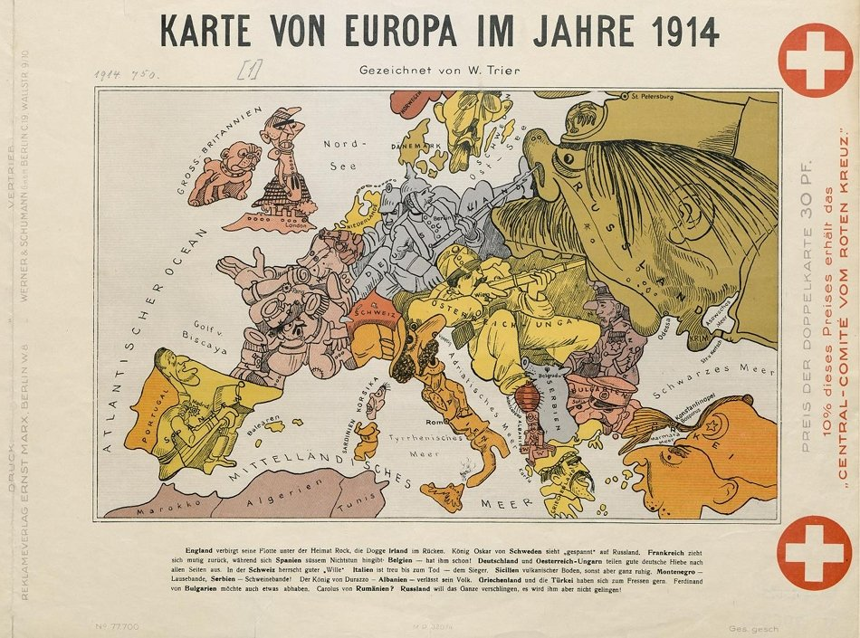 Cartoon map of Europe (1914)