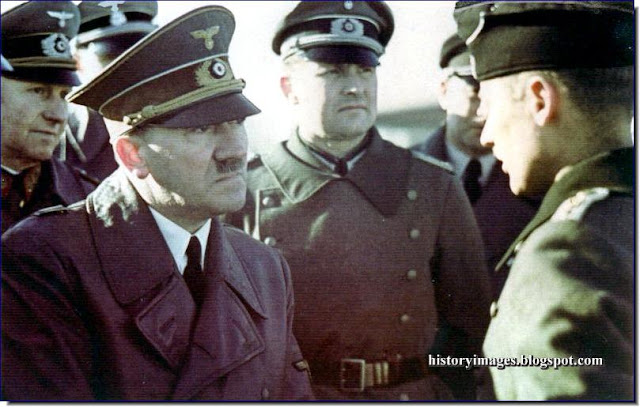 Adolf Hitler  General Alfred Jodl Hitler's adjutant Major Gerhard Engel