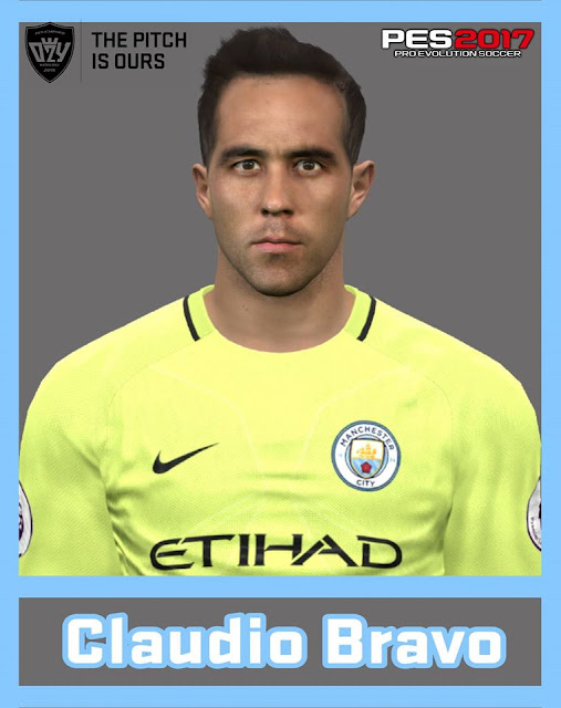 PES 2017 / PES 2016 Claudio Bravo (Manchester City) Face by Ozy_96 PESMOD