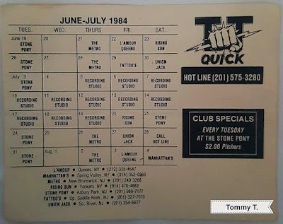 TT fuckin' Quick club lineup summer of 1984