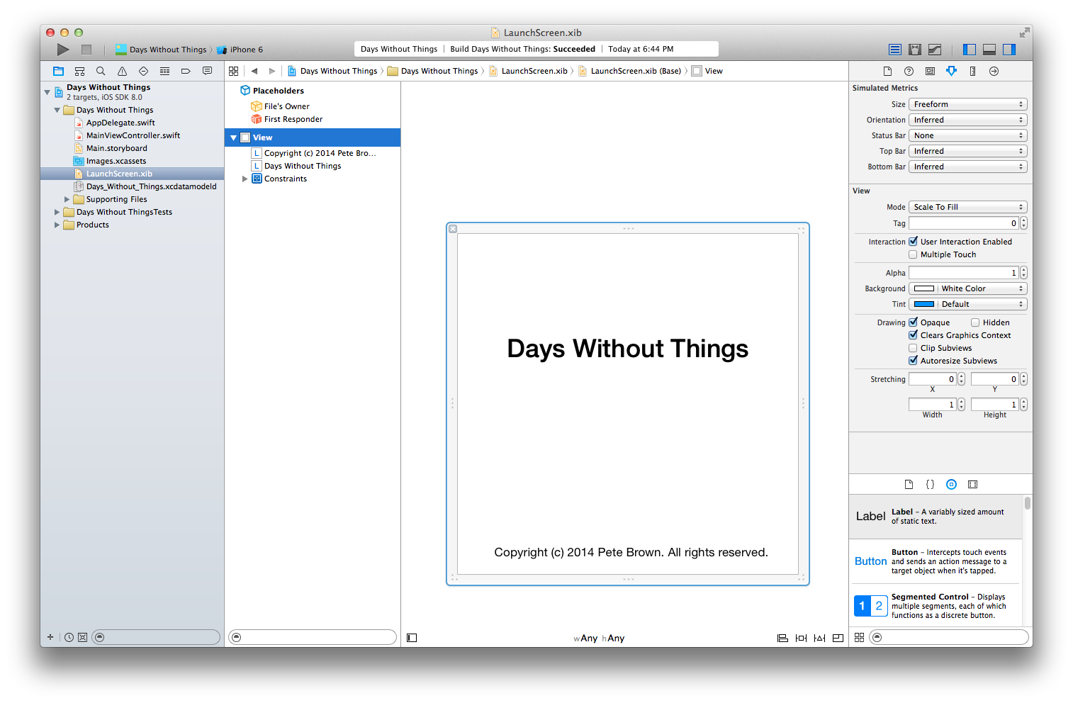 Pete's Tablet Programming: A Simple Swift iOS App from Start