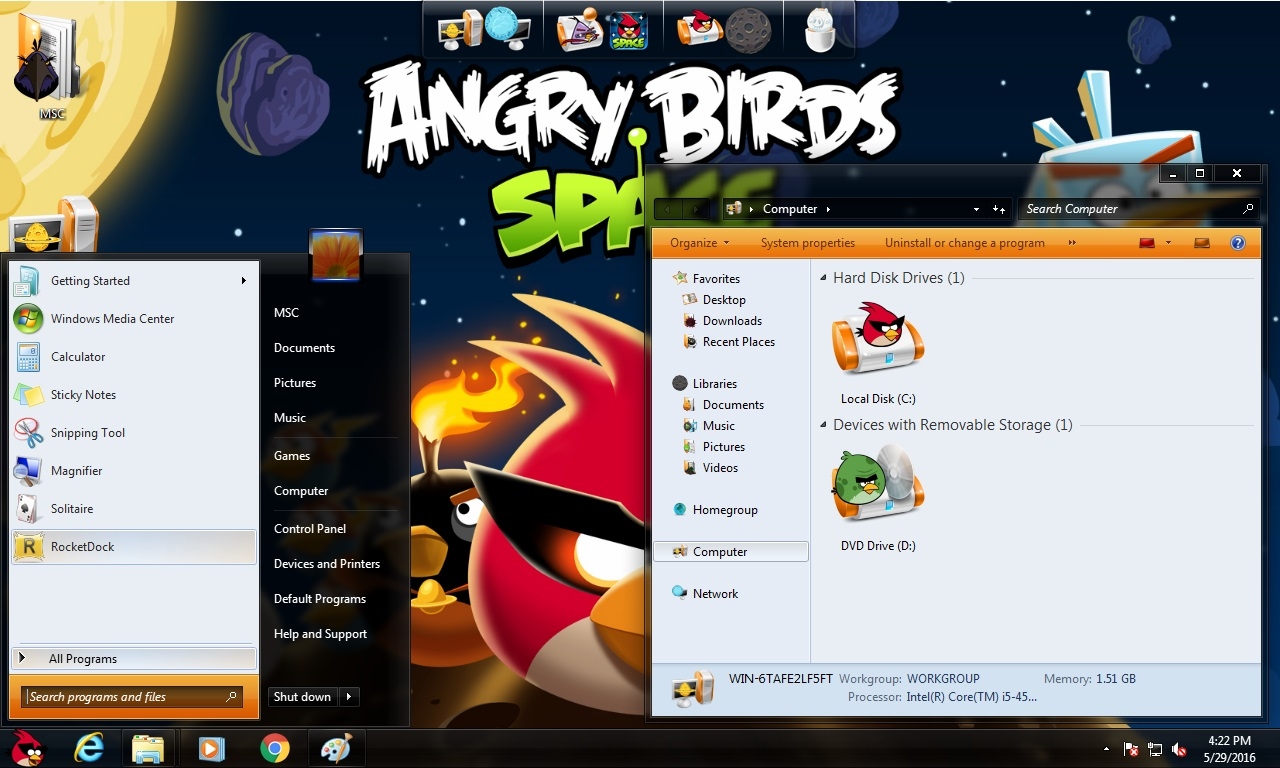 How to install Angry Birds Space Transformation Pack on Windows 8.1