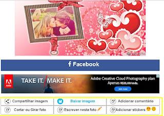 montagem para o dia dos namorados online