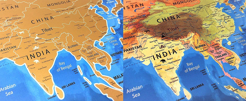 Amazon 1399 reg 40 nomadik cartography large blue ocean amazon 1399 reg 40 nomadik cartography large blue ocean edition scratch off world map gumiabroncs Images
