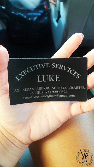 taxi service calling card