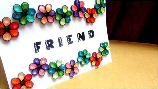 make friendship day cards at home