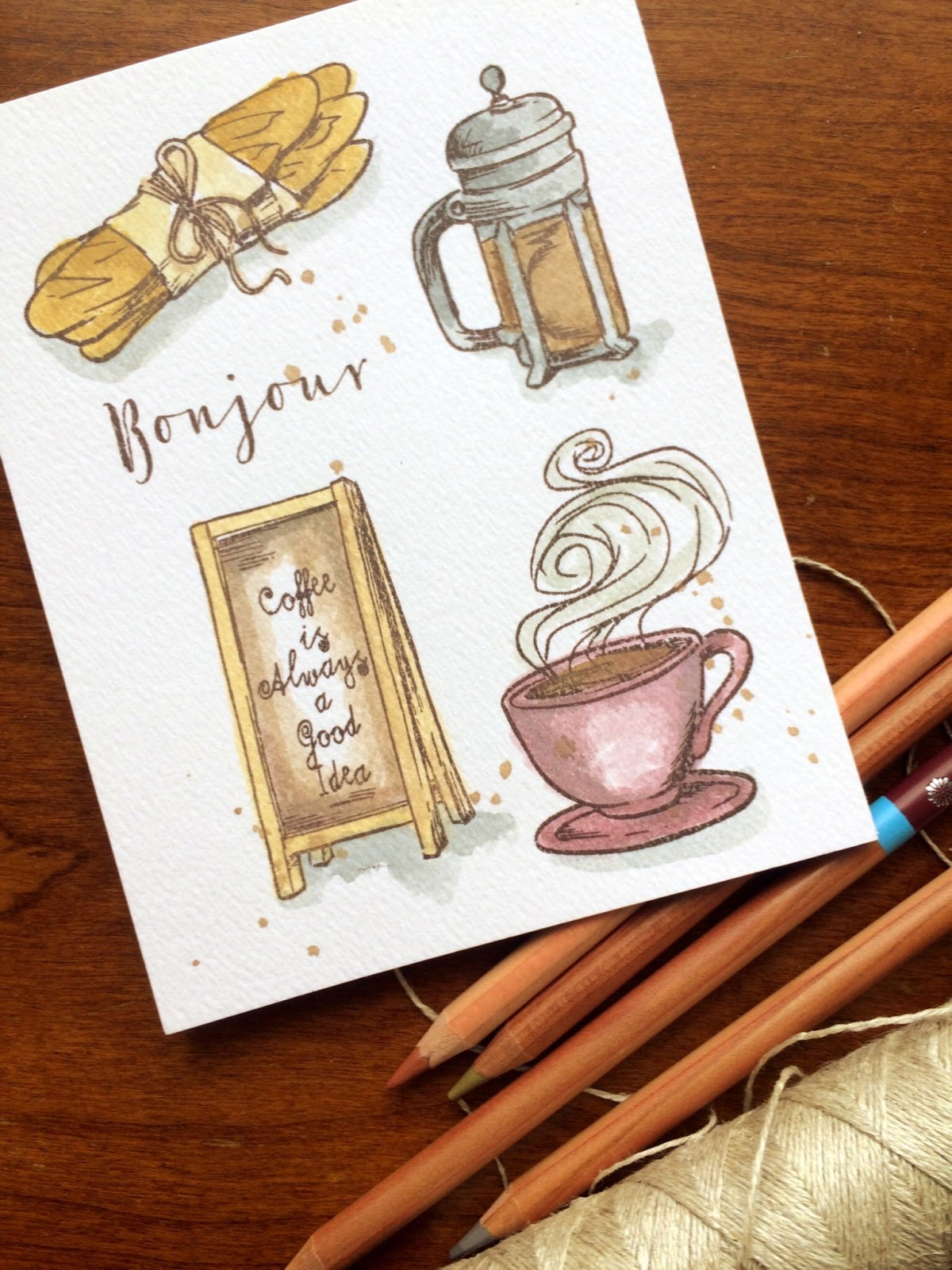 lauralooloo: Ooh La La! How To Use Watercolor Pencils ...