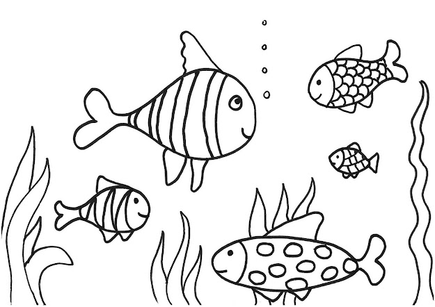 Coloring Pages Printable Fish Free Fish Coloring Pages Fish
