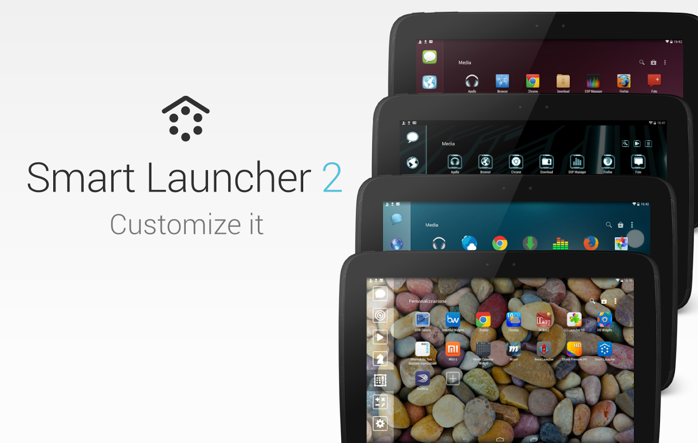 how to change launcher android 7