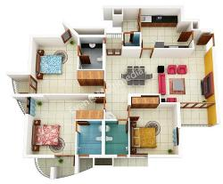 3d house plans indian style 3d house plans House plan 3d view