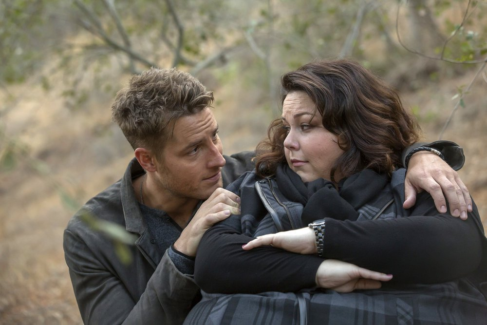 Justin Hurtley y Chrissy Metz en This Is Us