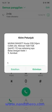 paket tri harian 2.5gb 2000 april