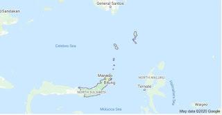 Peta Sulawesi Utara