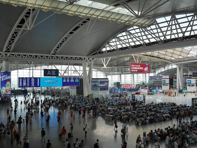 Guangzhou South Railway Station departure hall