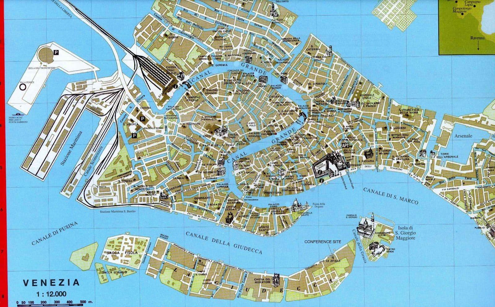 mapa veneza Mapas de Veneza   Itália | MapasBlog mapa veneza