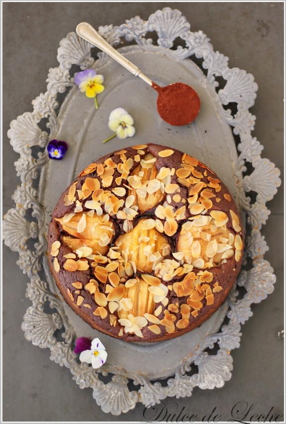 Čokoládovo hruškové brownies
