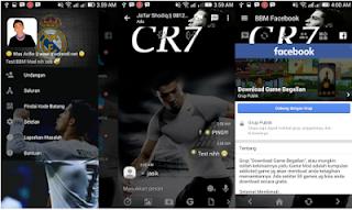 BBM MOD Cristiano Ronaldo v3.2.0.6 APK Transparan Theme