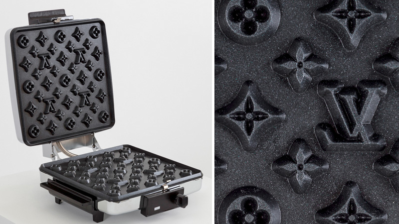 Máquina de waffles da Louis Vuitton