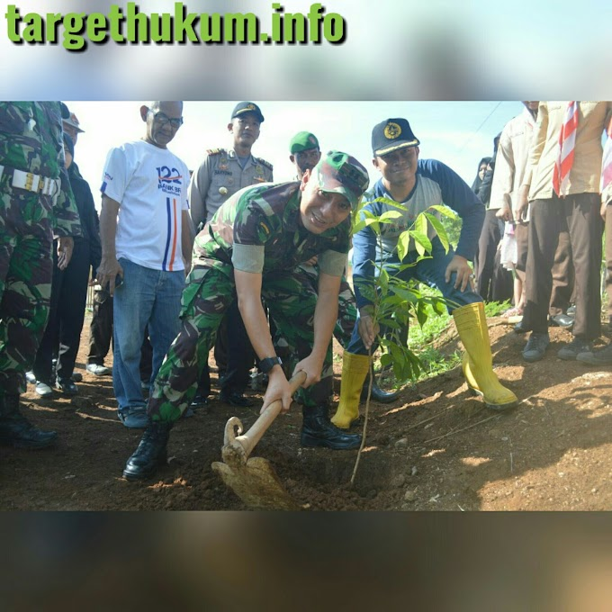 Penghijauan 600 Pohon Telah Ditanam Oleh Letkol Arm Arief Darmawan S.Sos Bersama Saka Wira Kartika