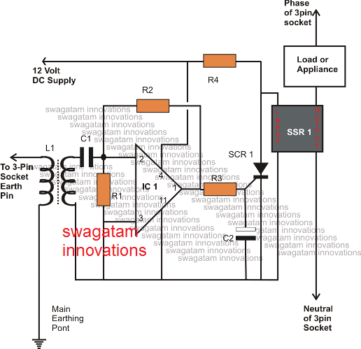 compact reliable ELCB circuit using SSR
