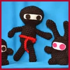 trío de ninjas amigurumi