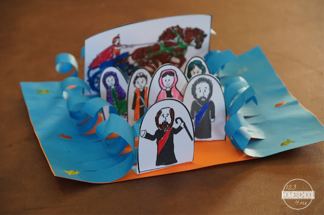 Moses and the Parting the Red Sea Bible Craft for Kids