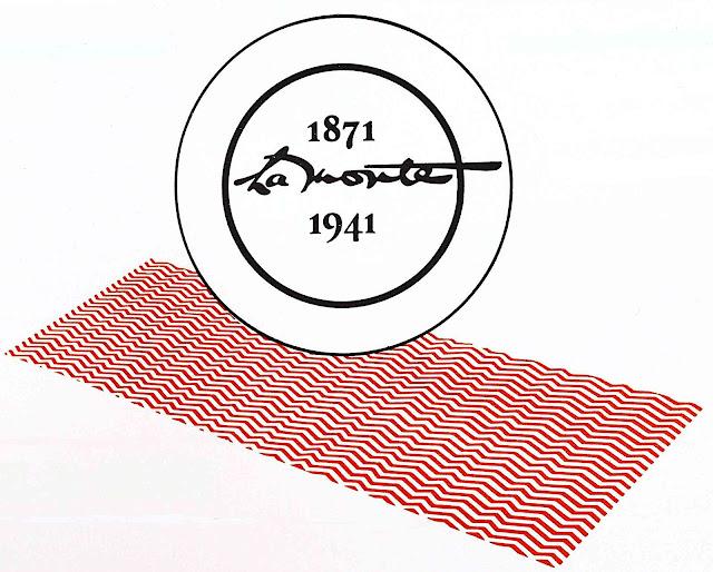 a 1941 color logo, La Monte 1871-1941, zigzag