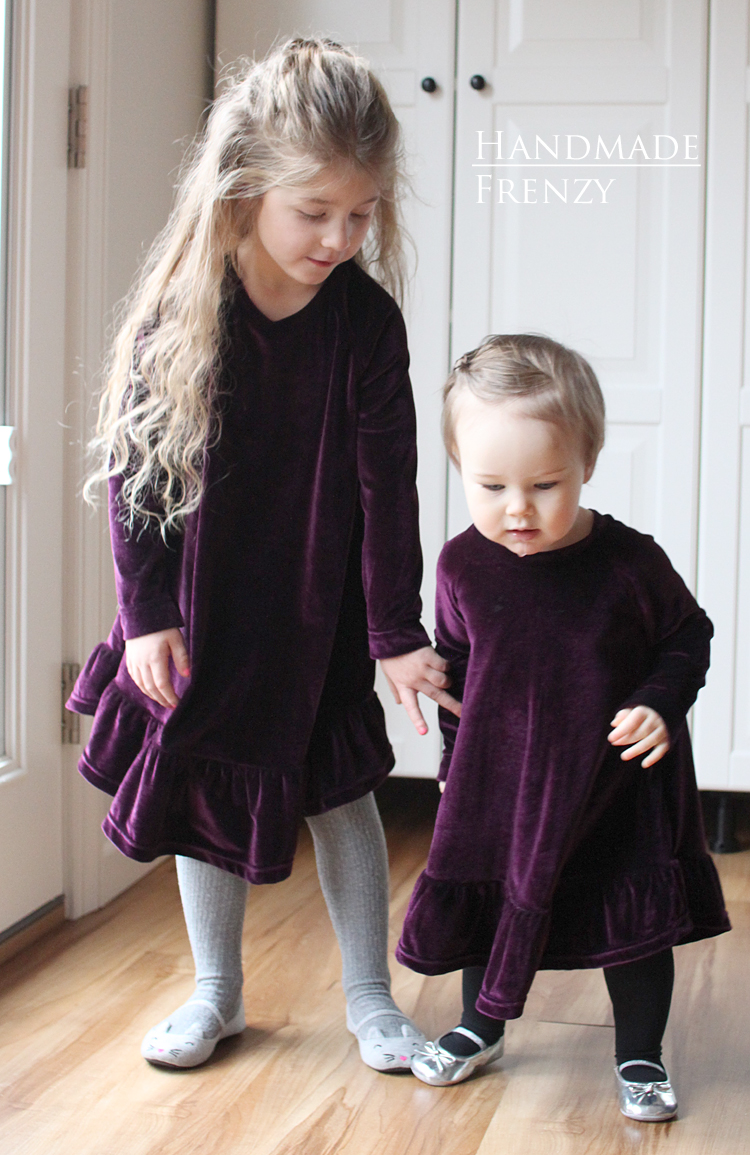 Waterfall Raglan Dresses // Sewing For Girls