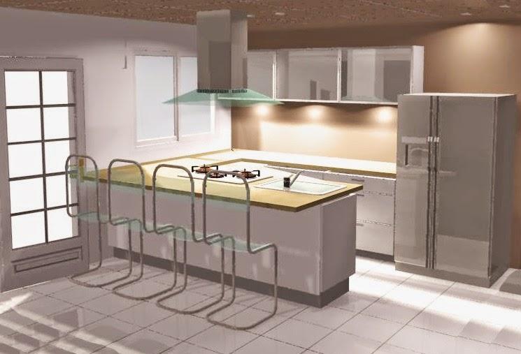 Dise o de cocinas en espacios peque os fabricaci n en for Cocinas integrales modernas para espacios pequenos