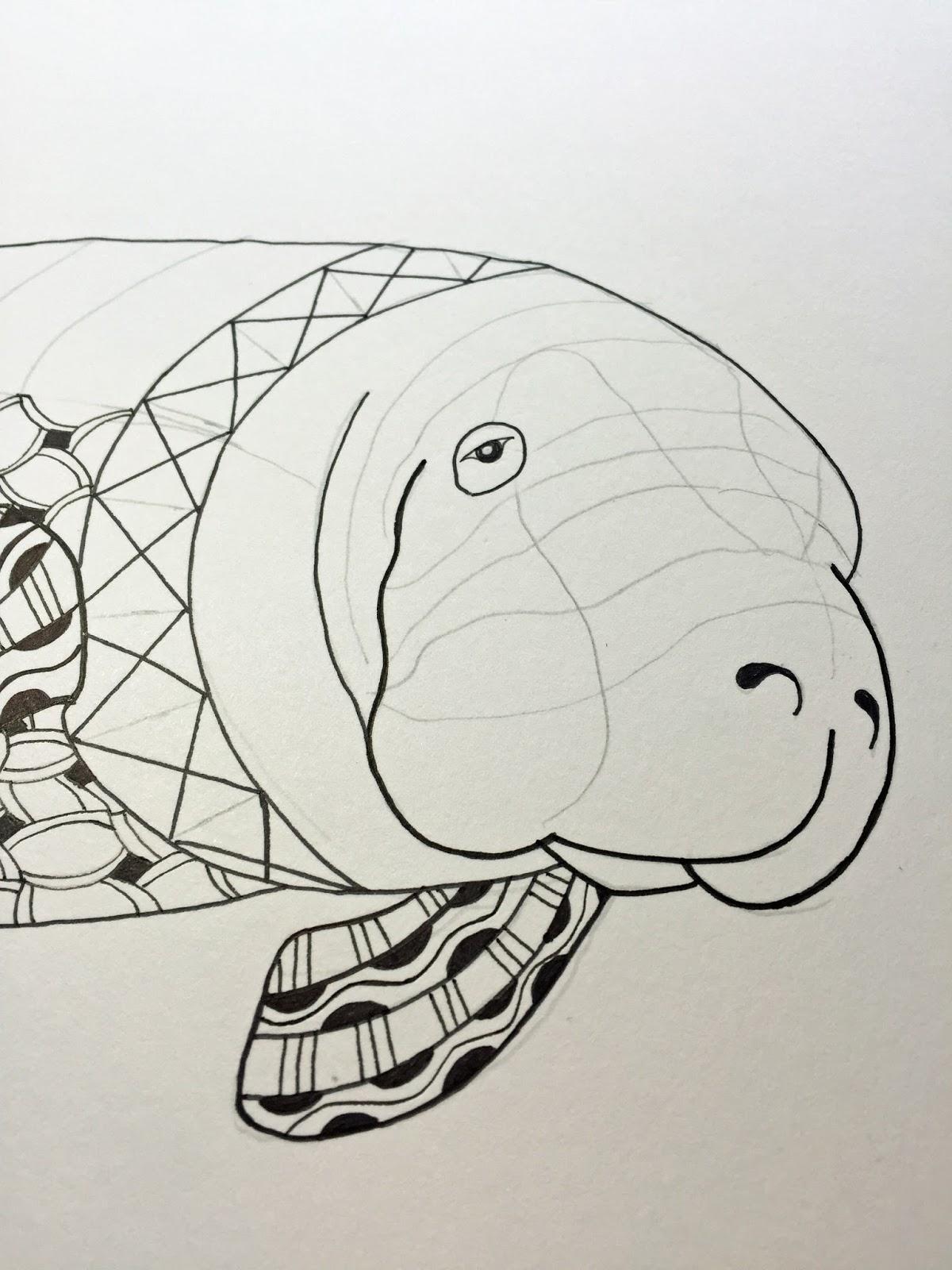 Line Art Generator : Manatee line art imgkid the image kid has it