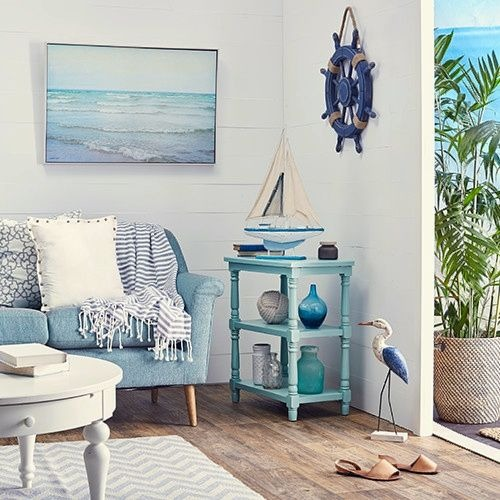 Blue Beachy Living Room | Zulily - Beach Home Decor Design ...
