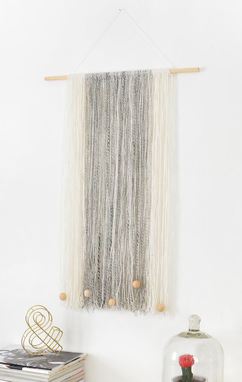 DIY yarn wall hanging | BURKATRON