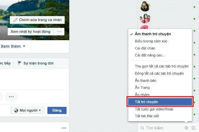 ẩn online trên facebook 3