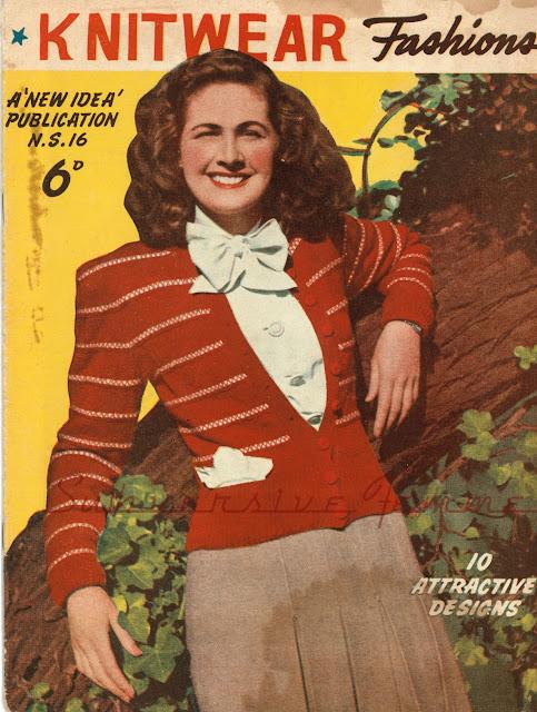 free vintage knitting pattern 1940s plus size