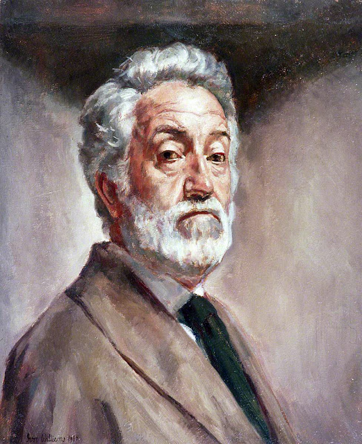 Ivor Williams, Self Portrait, Portraits of Painters, Fine arts, Portraits of painters blog, Paintings of Ivor Williams, Painter Ivor Williams