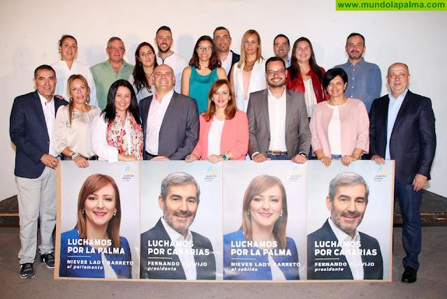 """Nieves Lady Barreto da el inicio a una campañaen la que trabajará""""para hacer a La Palma más fuerte dentro de Canarias"""""""