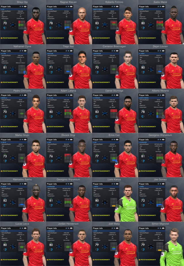 PES 2017 Liverpool Facepack