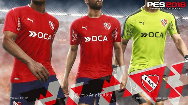 Independiente Start Screen PES 2018