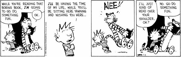 sporadic meditations: Calvin and Hobbes Comics