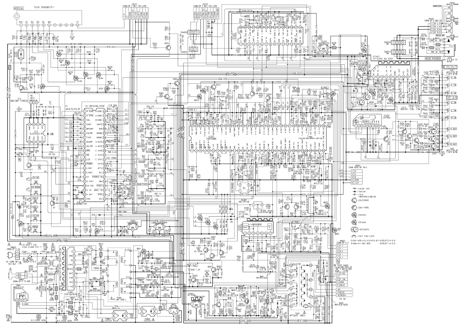 Aiwa Tv Circuit Diagram Introduction To Electrical Wiring Diagrams Color Television Se141 Type K And Eg Schematic A 219 Using Ics Str S6707 Rh Electronicshelponline Blogspot Com