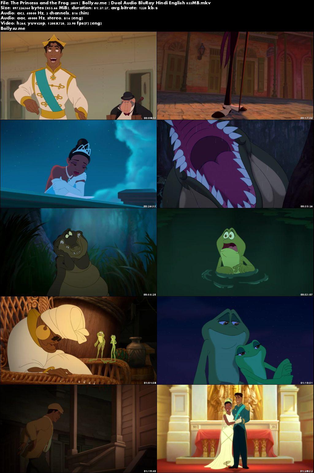 The Princess and the Frog 2009 BRRip 850MB Hindi Dual Audio 720p Download